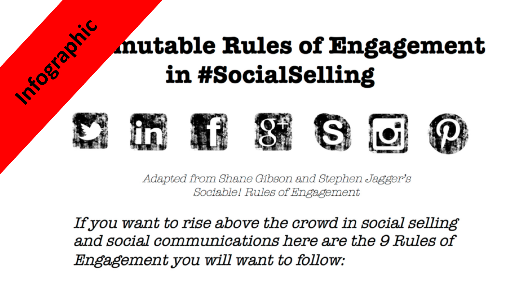 social selling social sales infographic